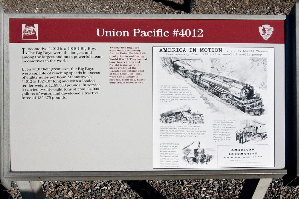 2 union Pacific 4012 display